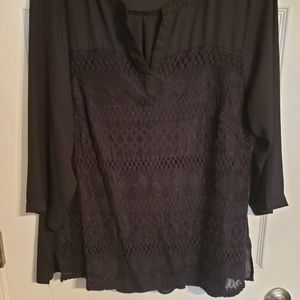 3/4 sleeve Lace/Mesh Top